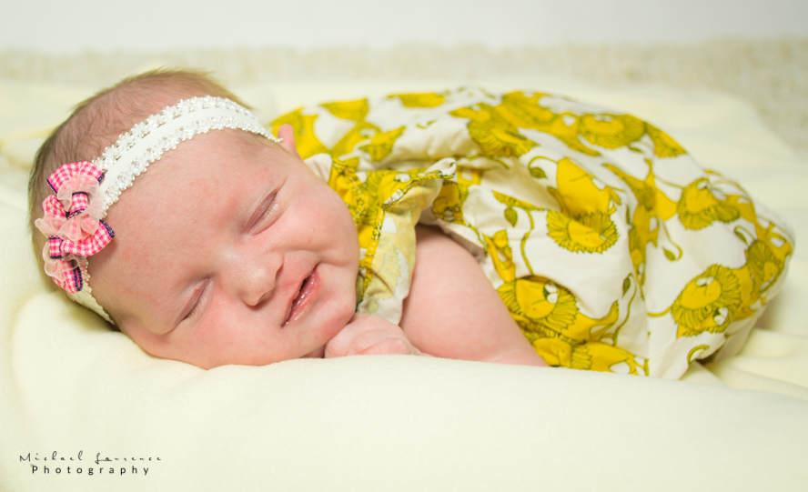 Newborn Photography with Two Week Old Baby Emma in Kfar Saba